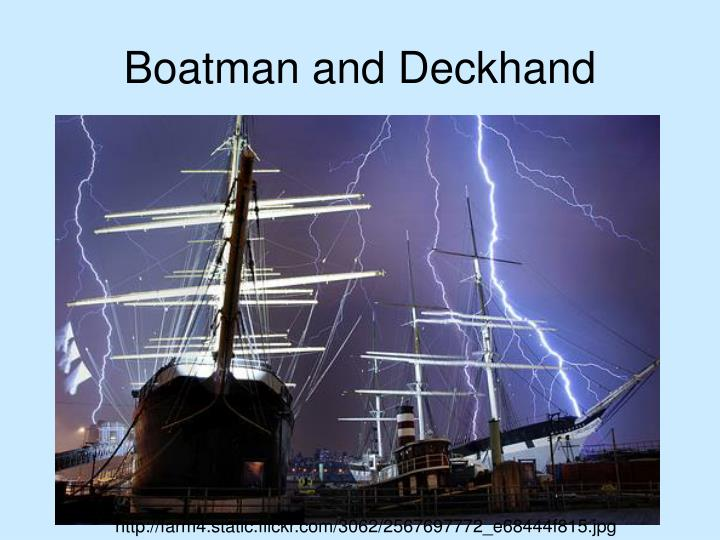 Boatman and Deckhand