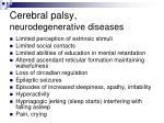 cerebral palsy neurodegenerative diseases