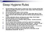 sleep hygiene rules