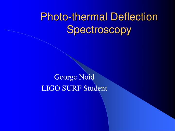 photo thermal deflection spectroscopy n.