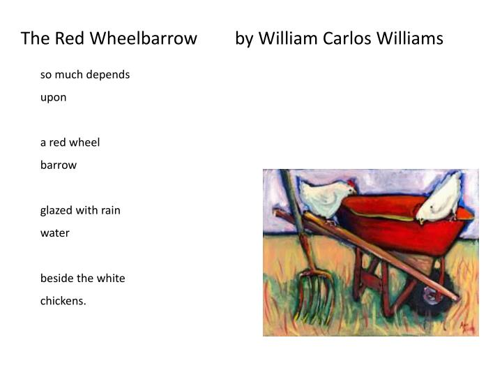 Image result for red wheelbarrow william carlos williams