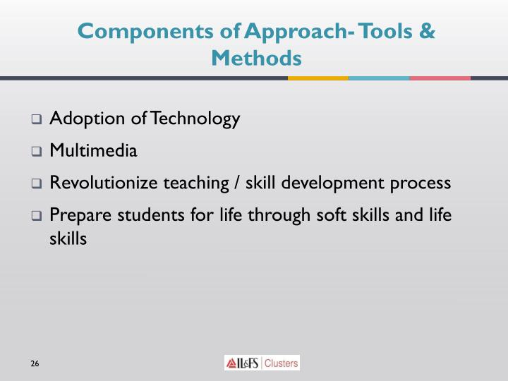 Components of Approach- Tools & Methods