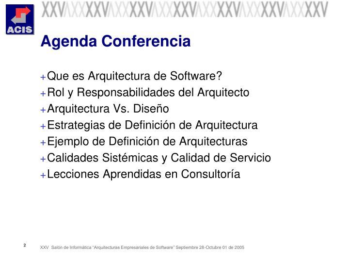 Agenda conferencia
