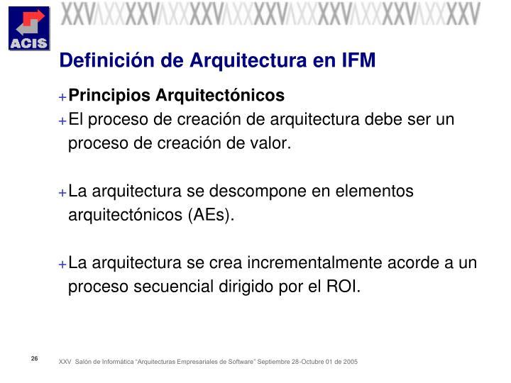 Definición de Arquitectura en IFM