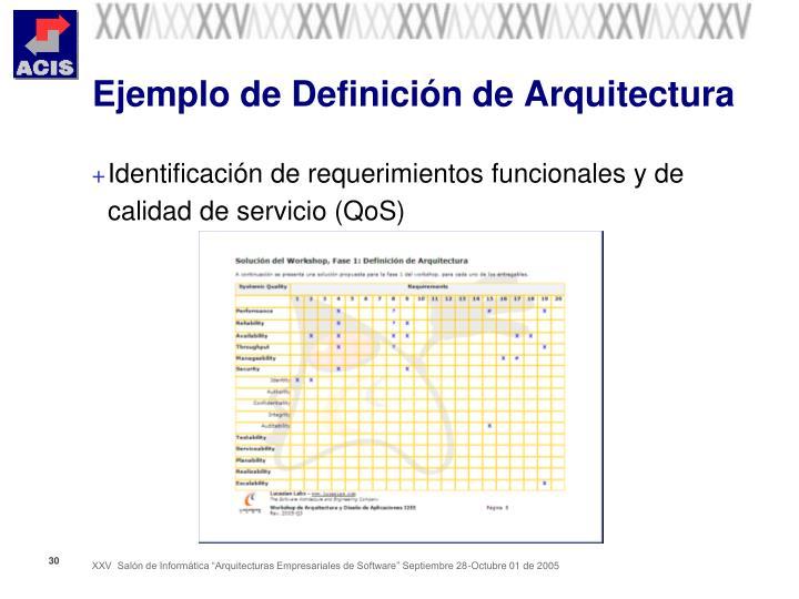 Ejemplo de Definición de Arquitectura