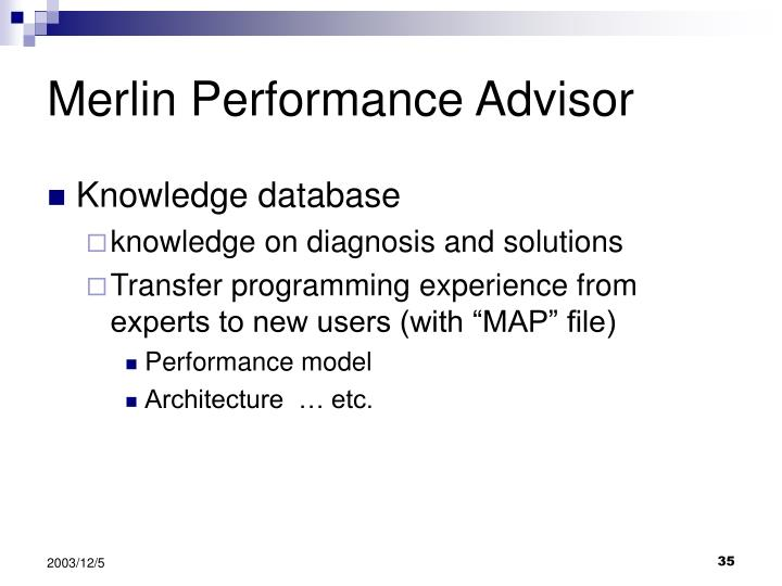 Merlin Performance Advisor