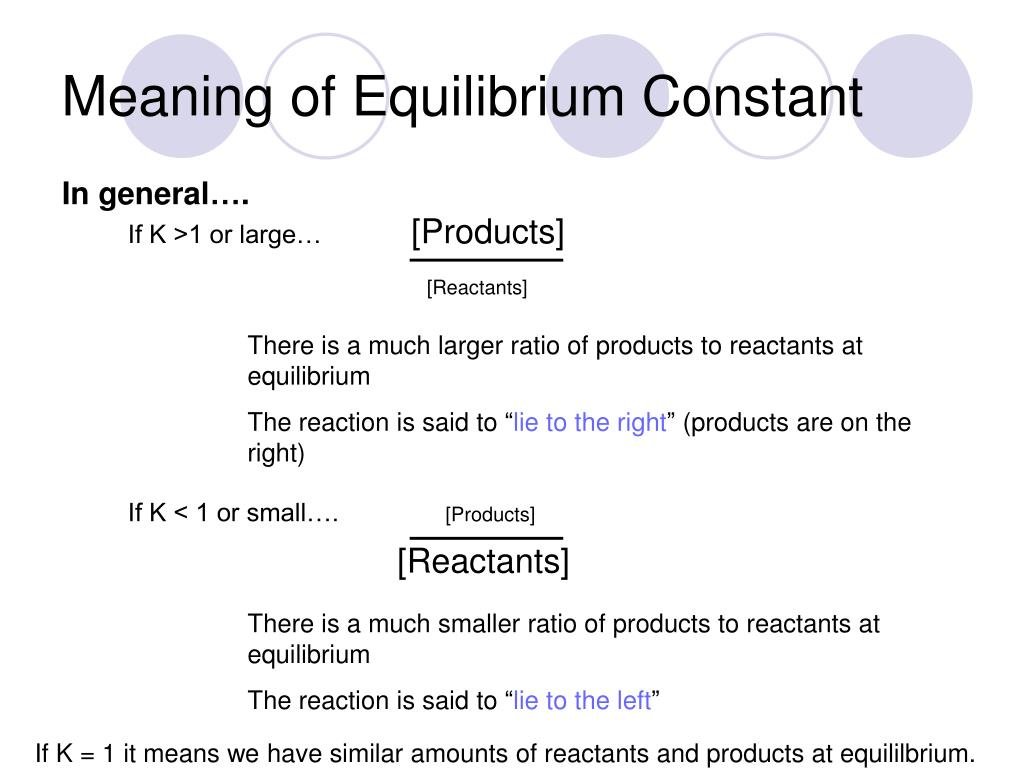 PPT - Section 8 2—Equilibrium Constant PowerPoint