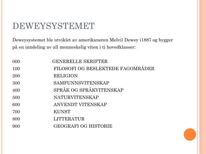 DEWEYSYSTEMET