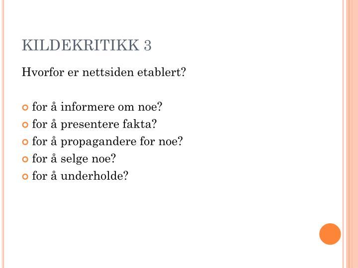 KILDEKRITIKK 3