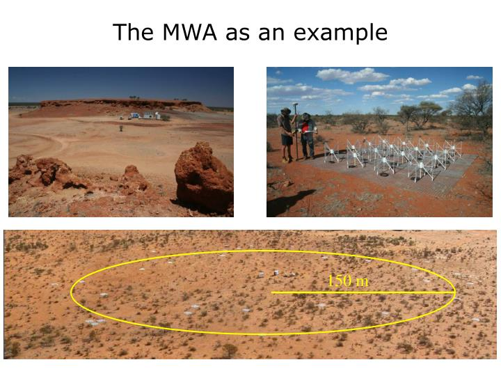 The MWA as an example