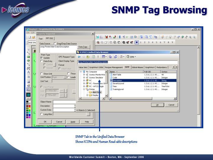 SNMP Tag Browsing
