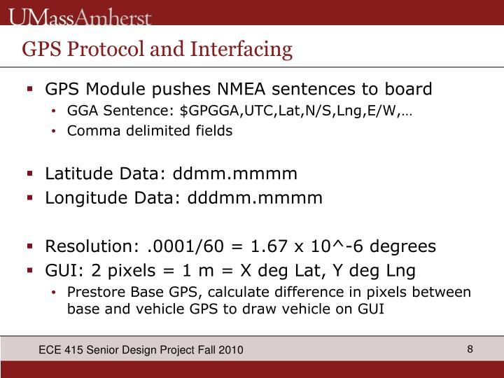 GPS Protocol and Interfacing
