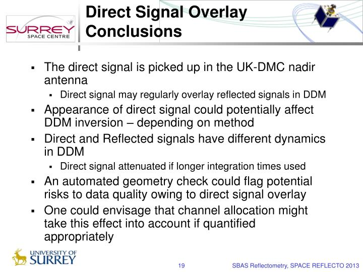 Direct Signal Overlay Conclusions