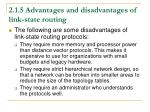 2 1 5 advantages and disadvantages of link state routing1