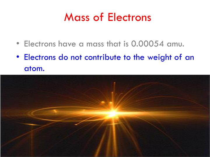 Mass of Electrons