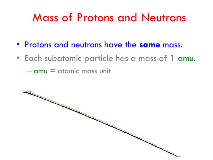 Mass of Protons and Neutrons