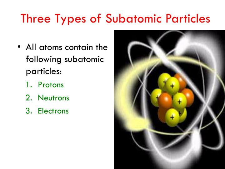 Three Types of Subatomic Particles