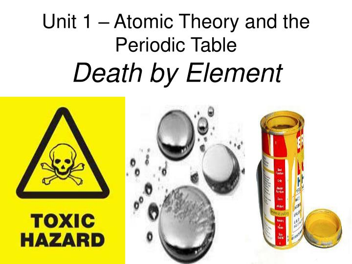 Unit 1 atomic theory and the periodic table