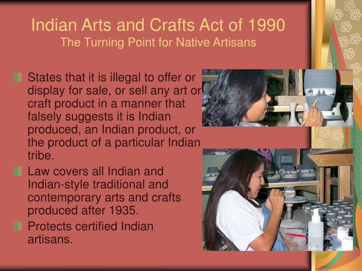 Indian Arts and Crafts Act of 1990