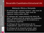 desarrollo cuantitativo estructural iii