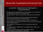 desarrollo cuantitativo estructural vii