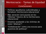 meritocracia temas de equidad x conclusiones
