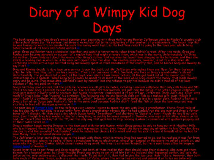 Diary of a wimpy kid dog days book rowley