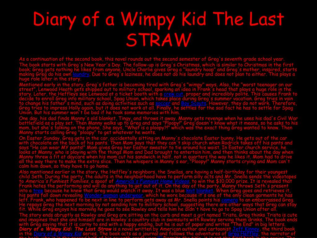 Ppt Jeff Kinney Diary Of A Wimpy Kid Books Powerpoint Presentation Free Download Id 4633798