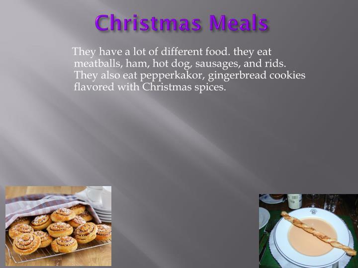 Christmas Meals