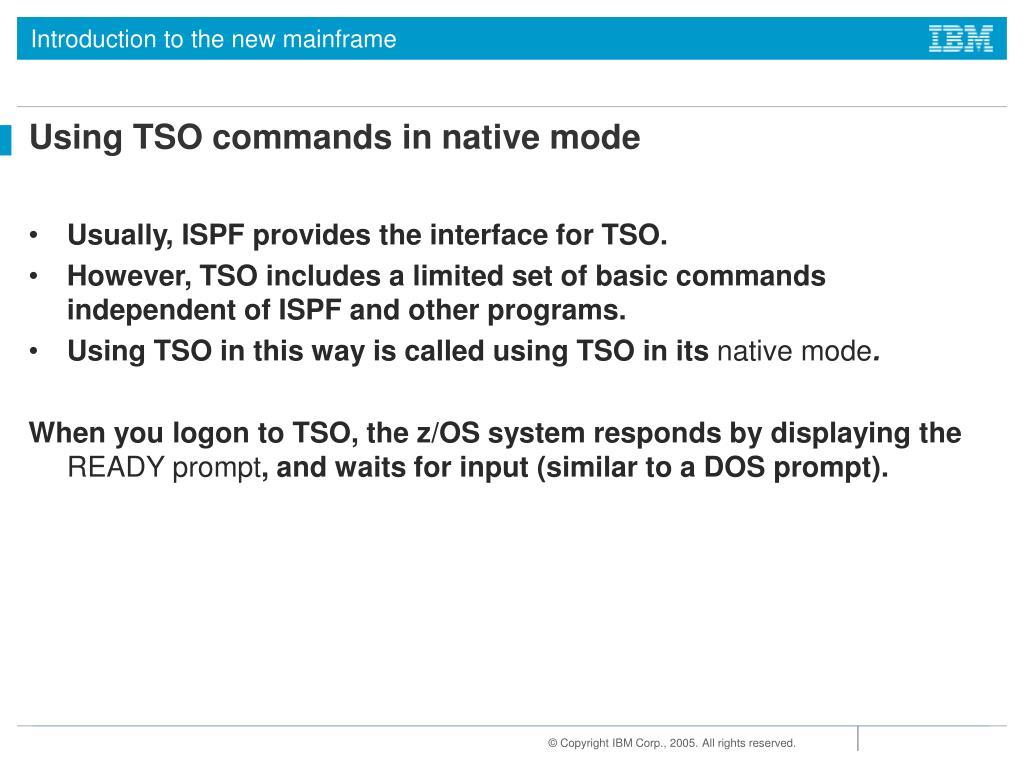 Ibm Ispf Commands