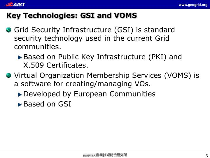 Key technologies gsi and voms