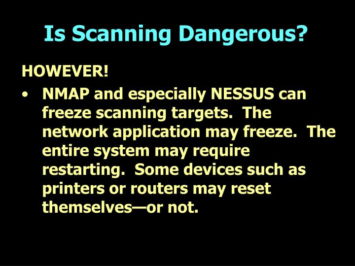 PPT - Using Nessus and Nmap to Audit Large Networks PowerPoint