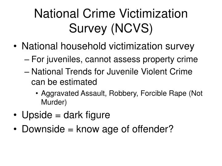 National Crime Victimization Survey (NCVS)