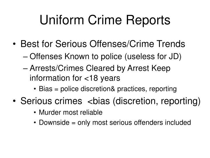 Uniform crime reports