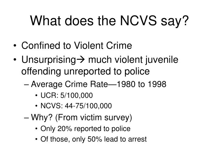 What does the NCVS say?