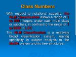 class numbers1