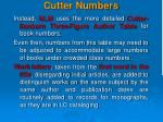 cutter numbers1