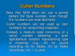 cutter numbers2