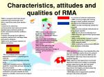 characteristics attitudes and qualities of rma