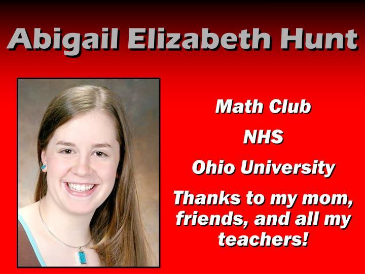 Abigail Elizabeth Hunt