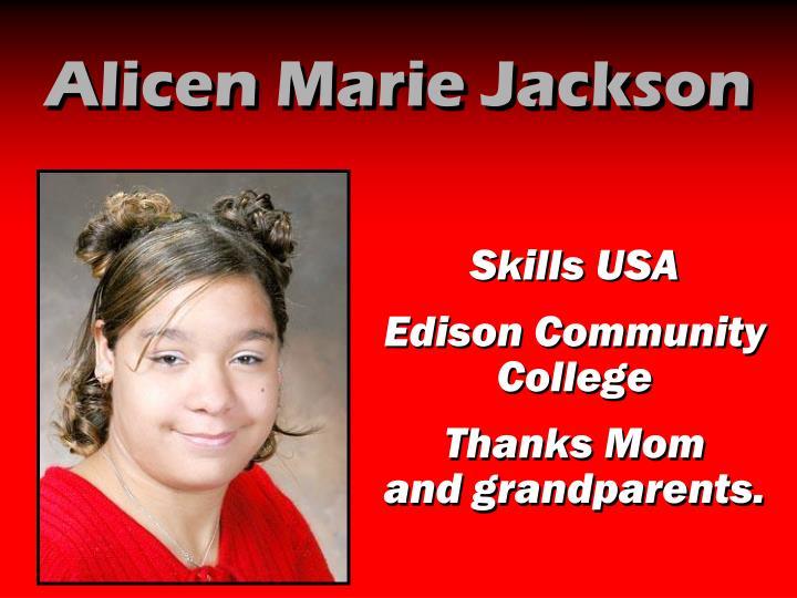 Alicen Marie Jackson