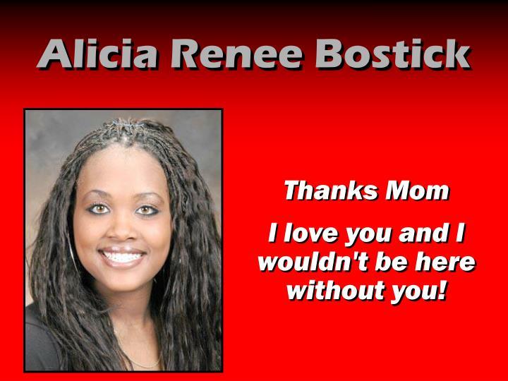 Alicia Renee Bostick