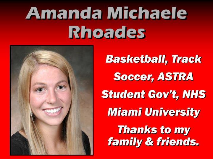 Amanda Michaele Rhoades