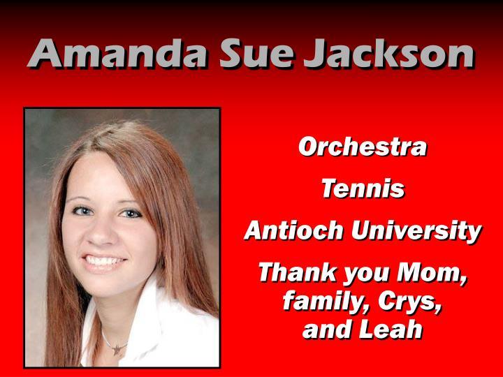 Amanda Sue Jackson
