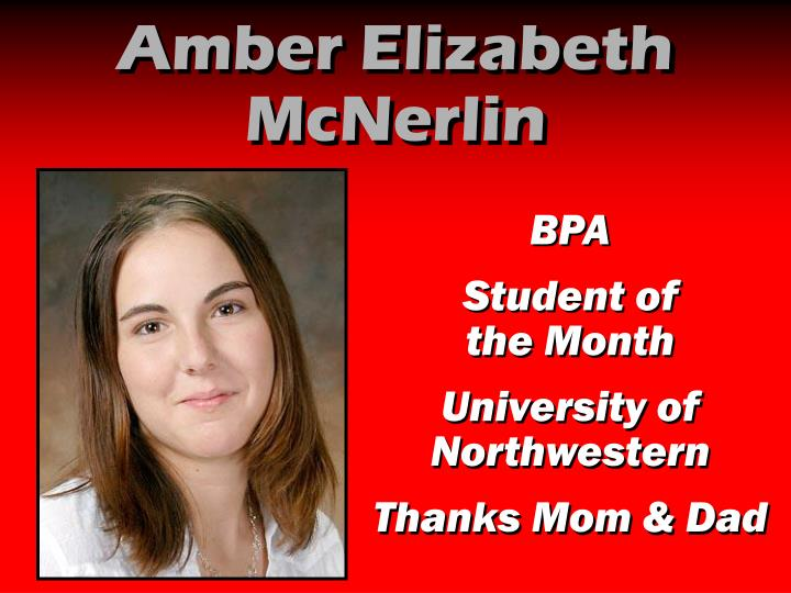 Amber Elizabeth McNerlin