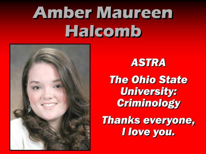 Amber Maureen Halcomb