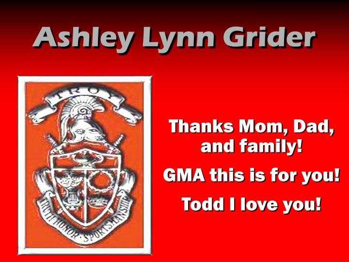 Ashley Lynn Grider