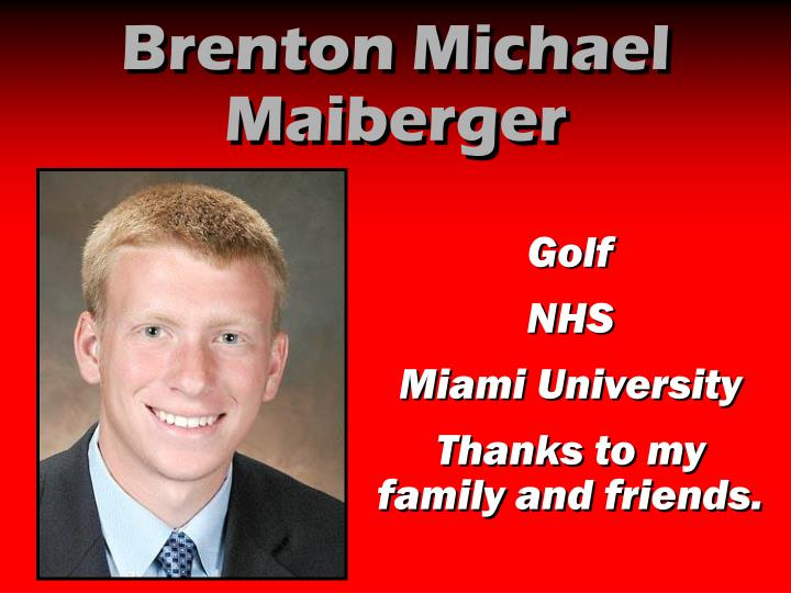 Brenton Michael Maiberger