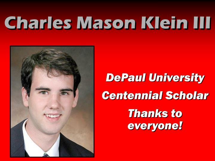 Charles Mason Klein III