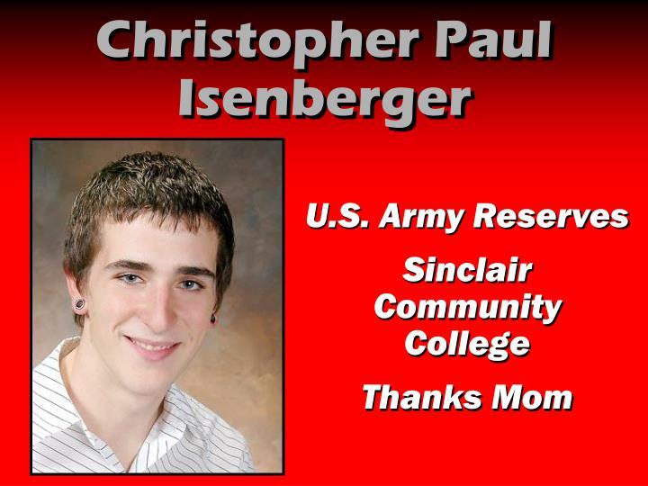 Christopher Paul Isenberger